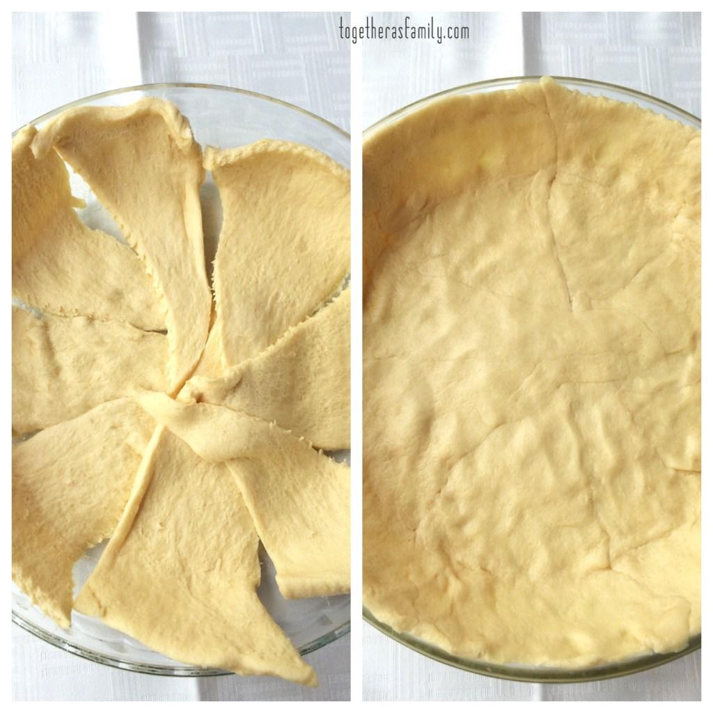 NACHO PIE- crescent roll dough! www.togetherasfamily.com