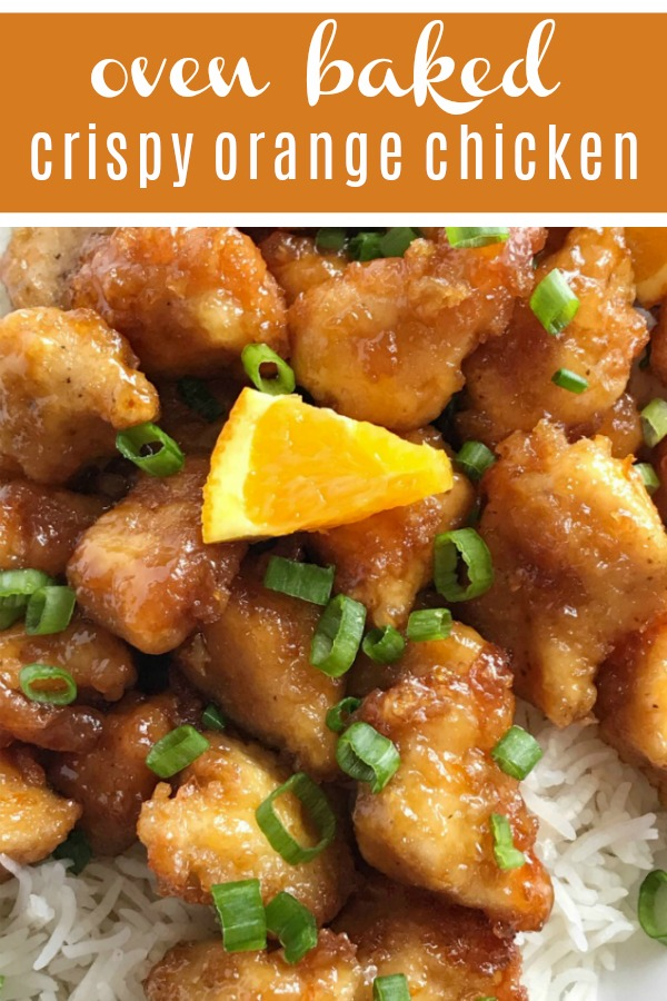 Baked Crispy Orange Chicken | Chinease Food | Dinner Recipe | Orange Chicken | Baked Orange Chicken | This baked orange chicken is tastes better than any Chinese take-out you'll get at a restaurant. Crispy coating of egg & cornstarch and then it's baked in a sweet and delicious orange sauce. This is a dish that you will want to make over and over. #dinnerrecipes #easydinnerrecipes #orangechicken #chicken #dinner #chinesefood