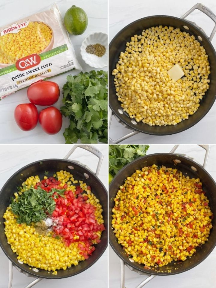 How to make southwestern skillet corn with step by step instructions with pictures.