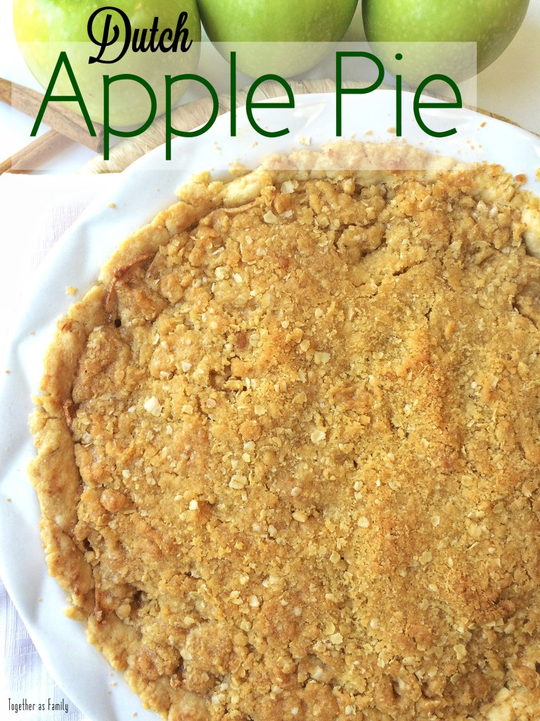 DUTCH APPLE PIE | tender, flaky crust loaded with tart & sweet apples and topped off with a crumbly oat topping! www.togetherasfamily.com