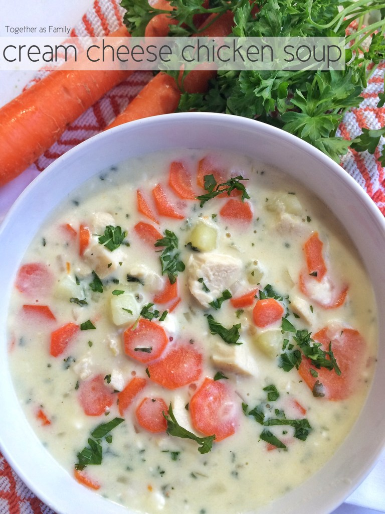 CREAM CHEESE CHICKEN SOUP | www.togetherasfamily.com