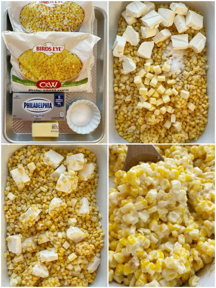 How to make creamed corn in the slow cooker with step-by-step pictures.