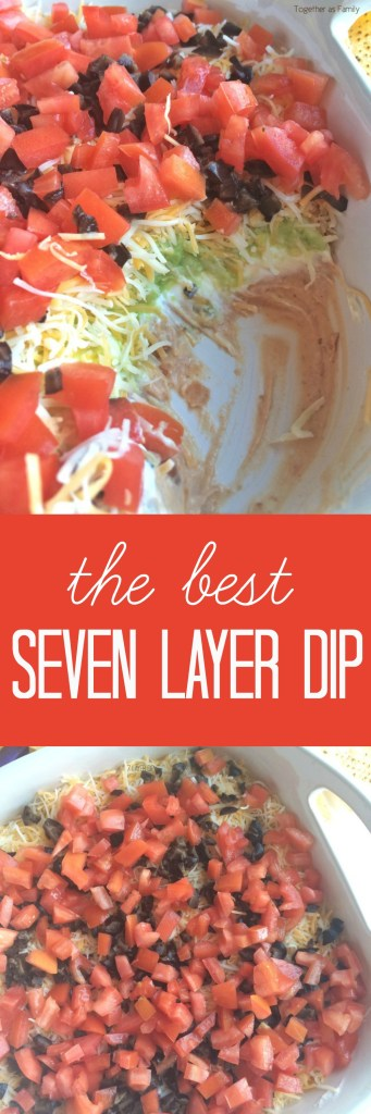Layers of beans, sour cream, fresh guacamole, shredded cheese, and loaded with fresh veggies! This will be a dip that no one can refuse. Serve with some crisp corn tortilla chips.