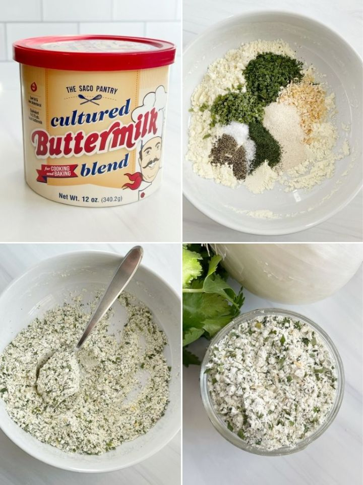 How to make your own ranch seasoning packet at home with step-by-step photo instructions.