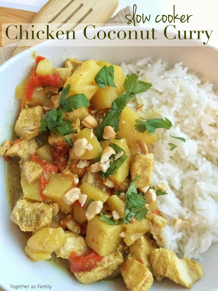 {slow cooker} CHICKEN COCONUT CURRY | www.togetherasfamily.com
