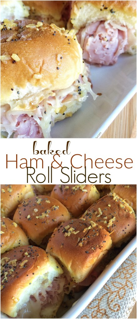BAKED HAM & CHEESE SLIDERS | www.togetherasfamily.com