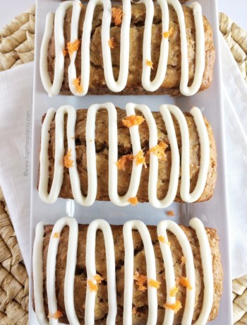 Carrot + banana comes together to form a lightly sweet, ultra tender & moist, and full of flavor quick bread! Drizzle with an easy cream cheese glaze and you will wonder why you've never combined those flavors together before now! Carrot banana bread is a great way to use up brown bananas or leftover carrots.