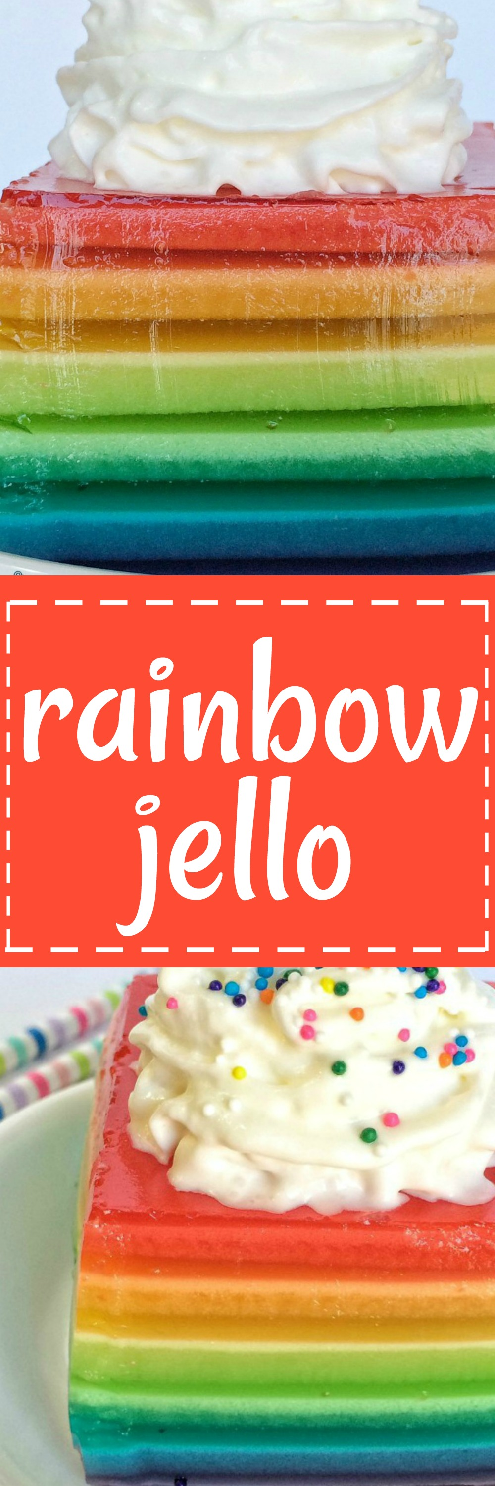 Rainbow Jello Together as Family