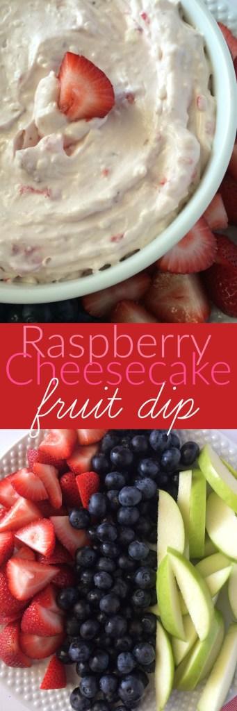 RASPBERRY CHEESECAKE FRUIT DIP   www.togetherasfamily.com