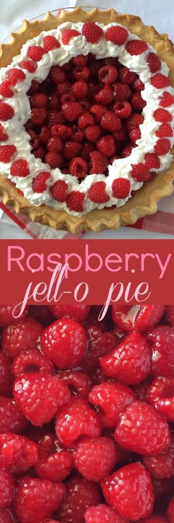 Raspberry Jell-o Pie | www.togetherasfamily.com