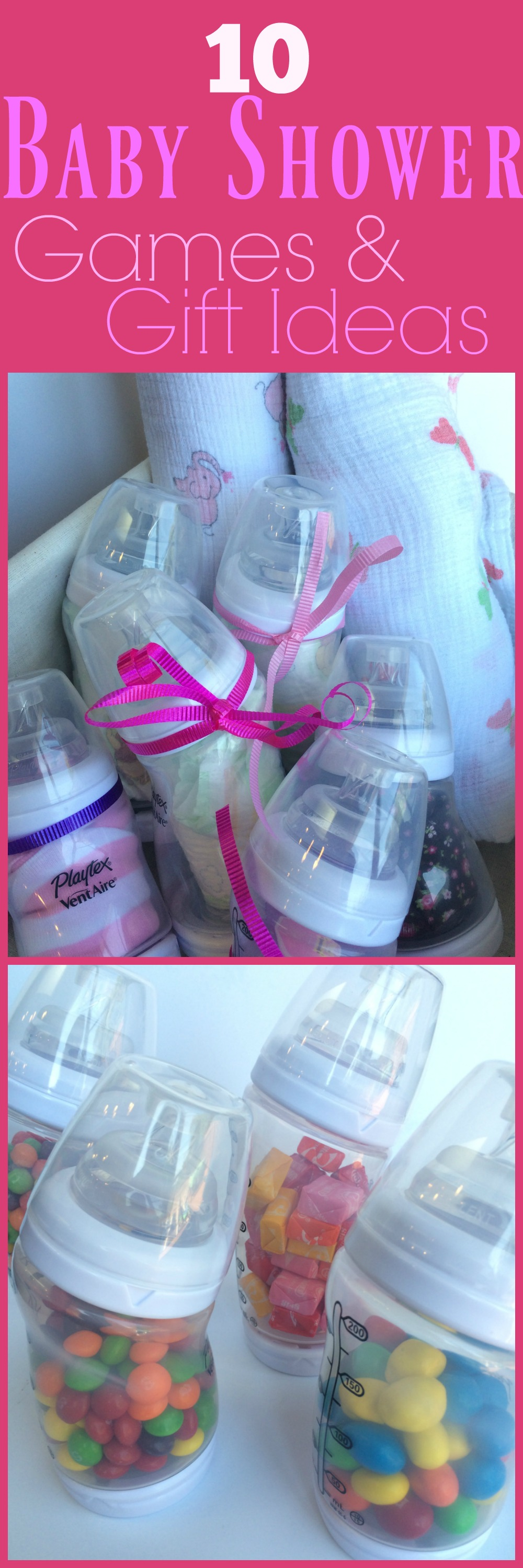 10 Baby Shower Games with Baby Bottles To her as Family