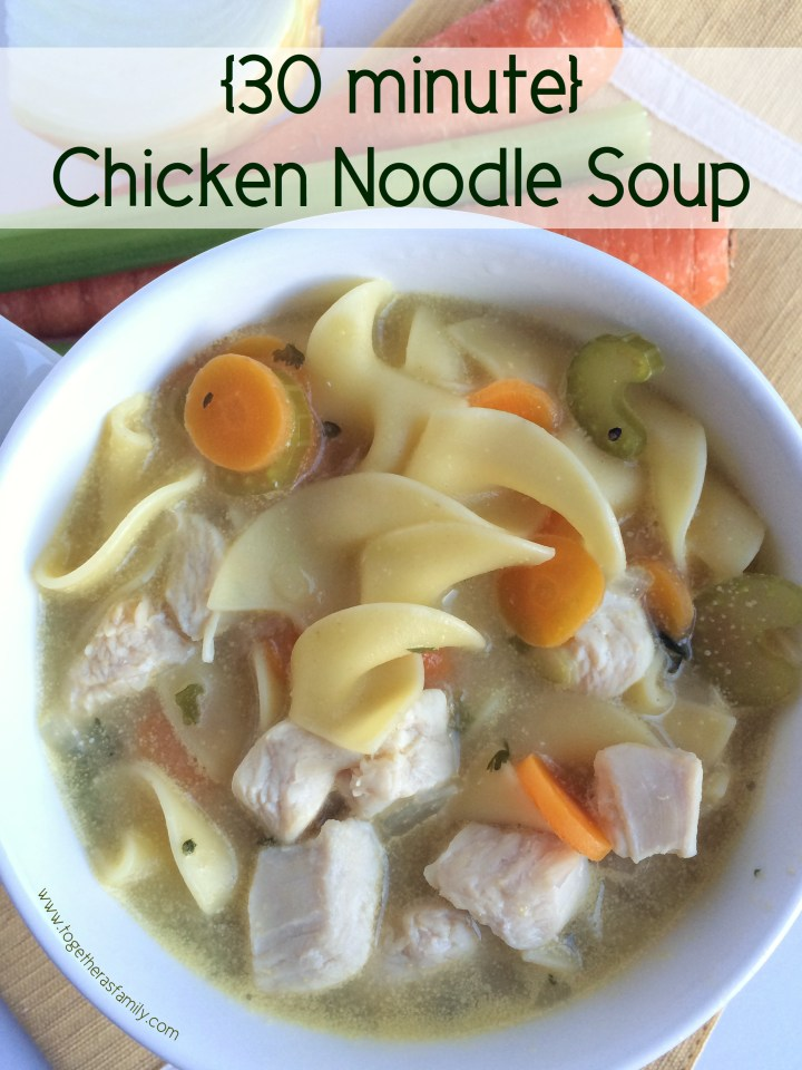 30 MINUTE CHICKEN NOODLE SOUP | Together as Family