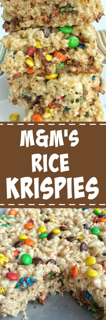 These M&M's rice krispies take traditional rice krispies to the next level! Loaded with chocolatey and colorful mini m&m's, these are sure to be a hit. And they're so simple to make.