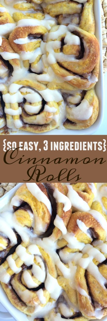 3 Ingredient Cinnamon Rolls