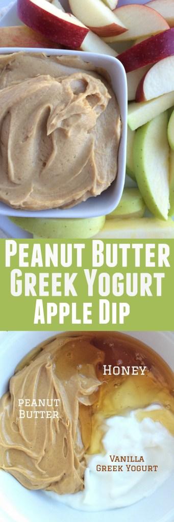 Peanut Butter Greek Yogurt Apple Dip - Together as Family