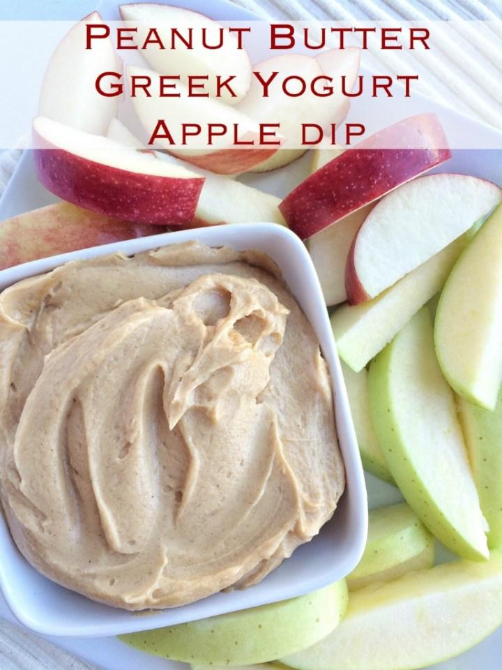 Peanut Butter Greek Yogurt Apple Dip