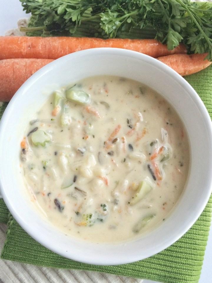 Creamy Broccoli Wild Rice Soup