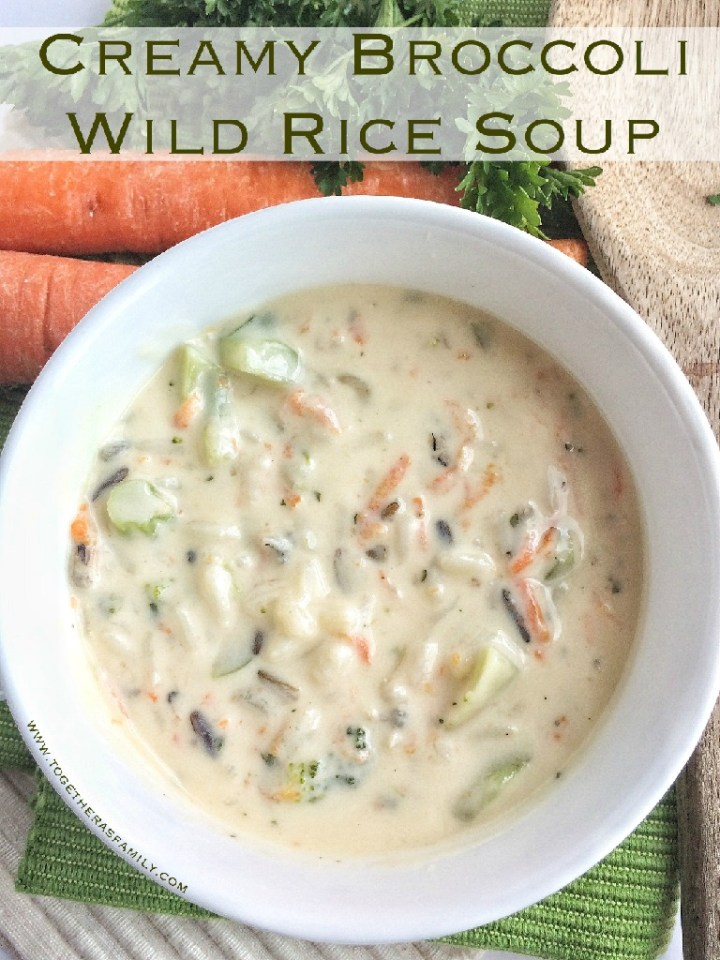 Creamy Broccoli Wild Rice Soup