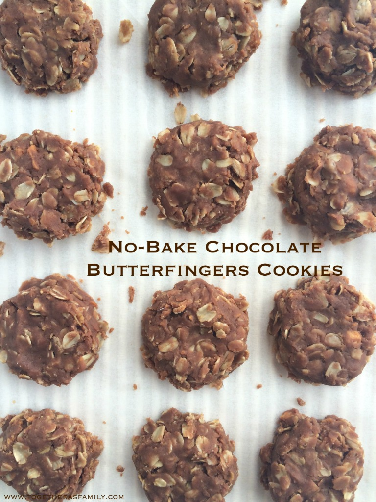 No Bake Chocolate Butterfingers Cookies