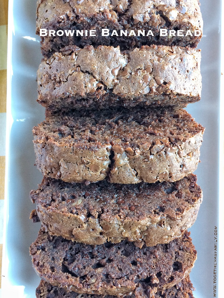 Brownie Banana Bread starts with a brownie mix and is so moist and will cure any chocolate craving! Only 5 ingredients!