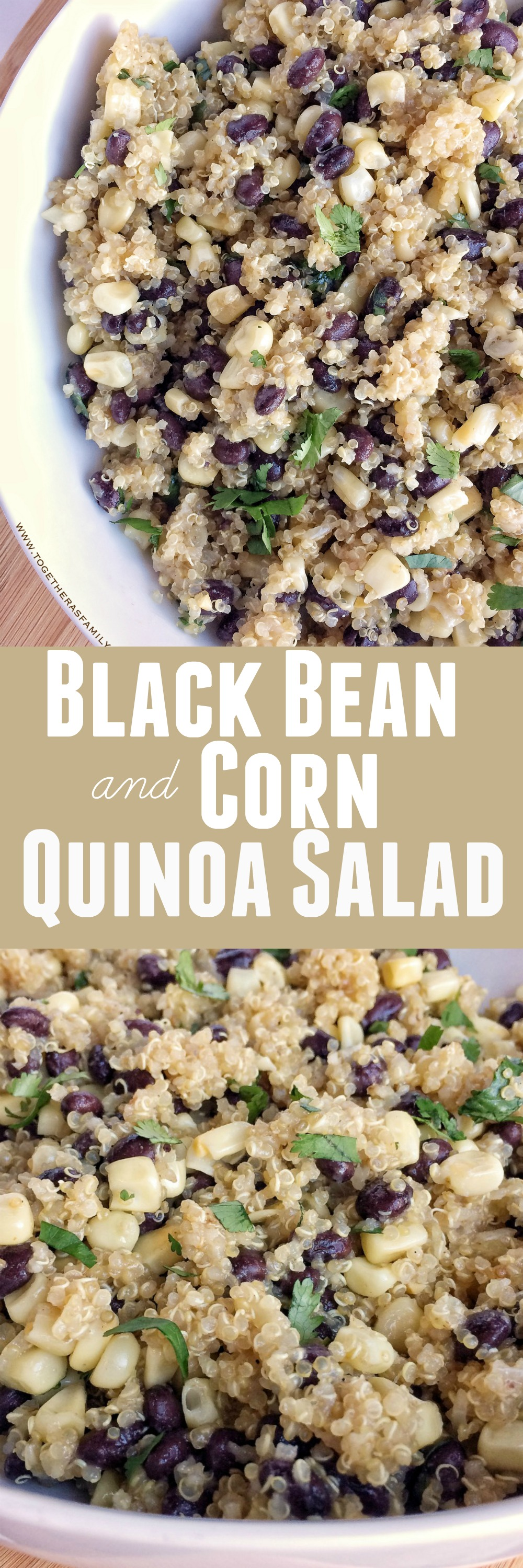 Black bean and corn quinoa salad together as family save this recipe and pin it to pinterest forumfinder Images