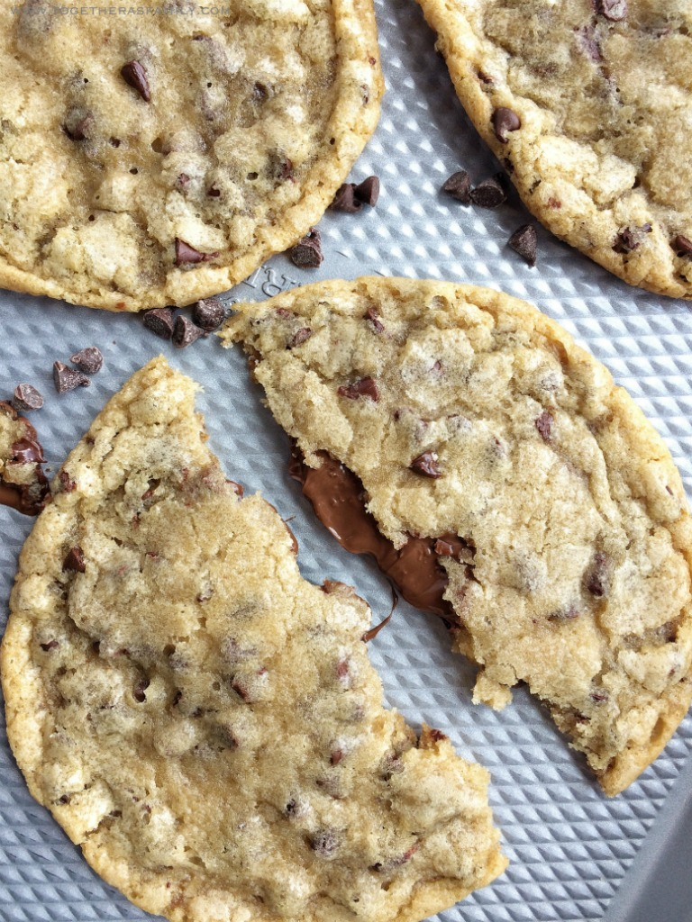 Giant Chocolate Stuffed Chocolate Chip Cookies - Together ...
