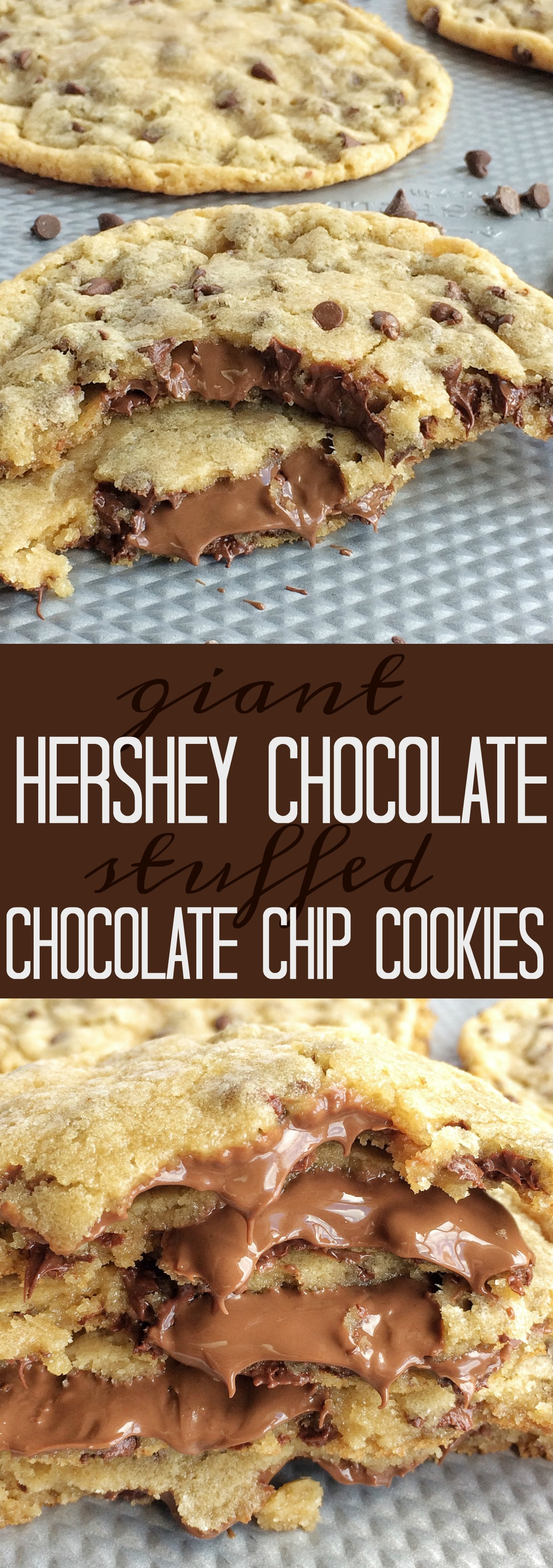 Recipe for giant choc chip cookies