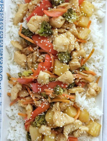 Pineapple Teriyaki Chicken Stir-fry