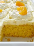 Pig Pickin' Cake Recipe | Cake Mix | Boxed Cake Mix | Easy Dessert Recipe | Orange Pineapple Cake is an easy cake recipe that starts with a boxed cake mix and canned mandarin oranges. Topped with a delicious and fluffy whipped pineapple vanilla pudding frosting. So moist, light, and refreshing.