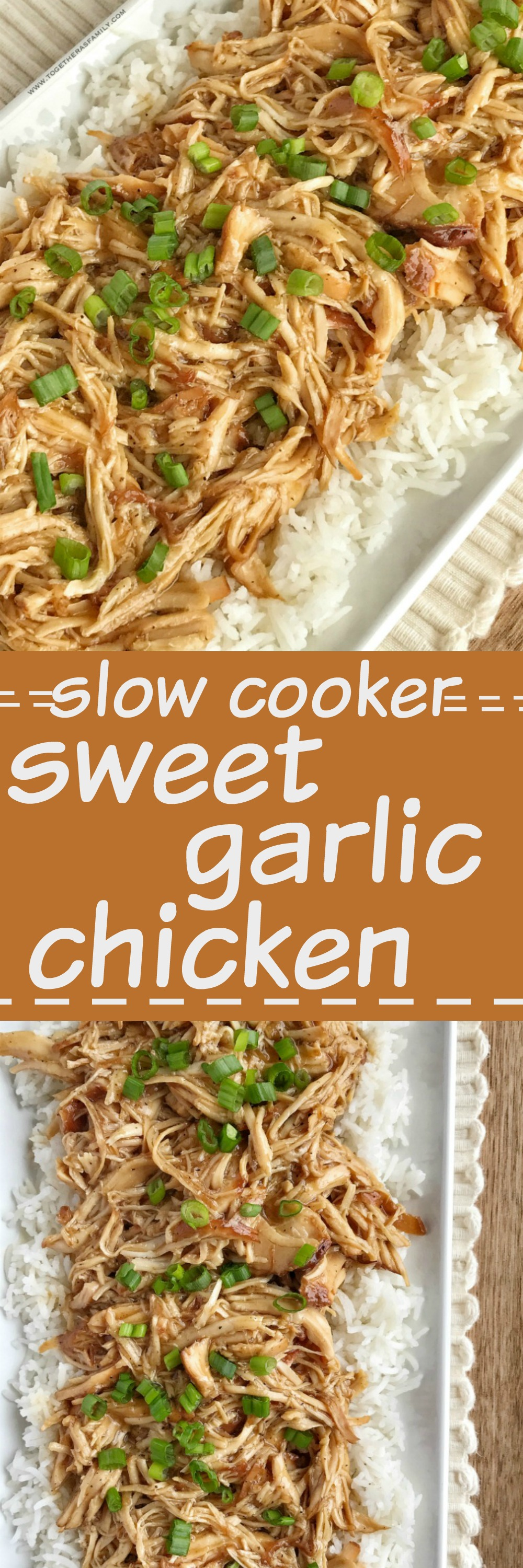 Slow cooker sweet garlic chicken together as family slow cooker sweet garlic chicken is an easy simple dinner that has loads of flavor forumfinder Images