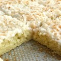 Soft, moist, and loaded with coconut and lime. This coconut lime sheet cake is a delicious dessert that everyone will love! It makes enough to serve a crowd so it's perfect for gathering and potlucks.
