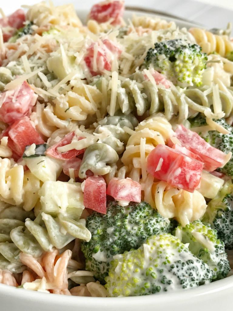 How to make good shrimp pasta salad dressing and hamburger