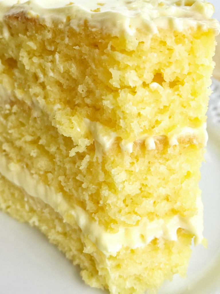 Easy Lemon Lovers Layered Cake Together As Family