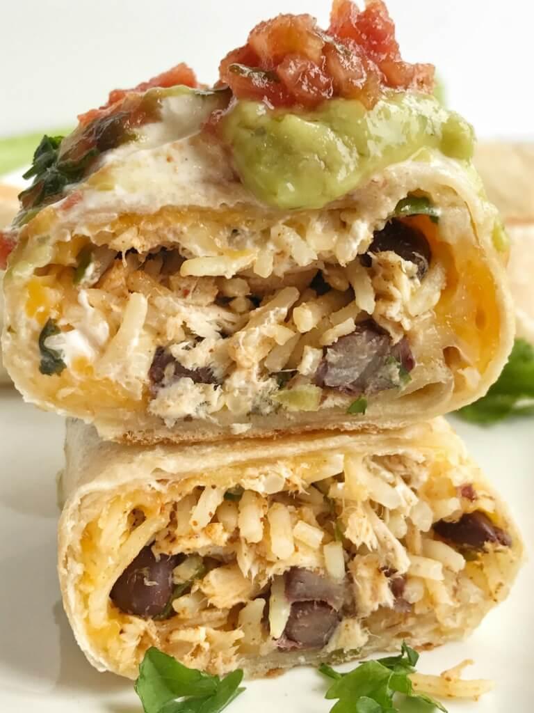 crispy southwest chicken skillet burritos together as family