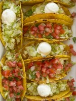 Baked Honey Lime Chicken Tacos are a quick 30 minute taco recipe that is perfect with rotisserie chicken or leftover chicken. Chicken tacos seasoned with honey, fresh lime juice, and spices cook in the oven for super crispy & crunchy tacos.