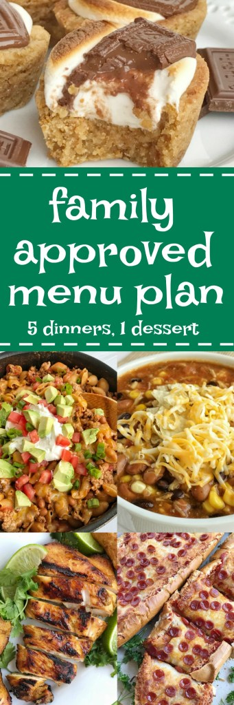 Family menu plan that your entire family will love! Easy, family approved, simple ingredients, and delicious food to enjoy together!