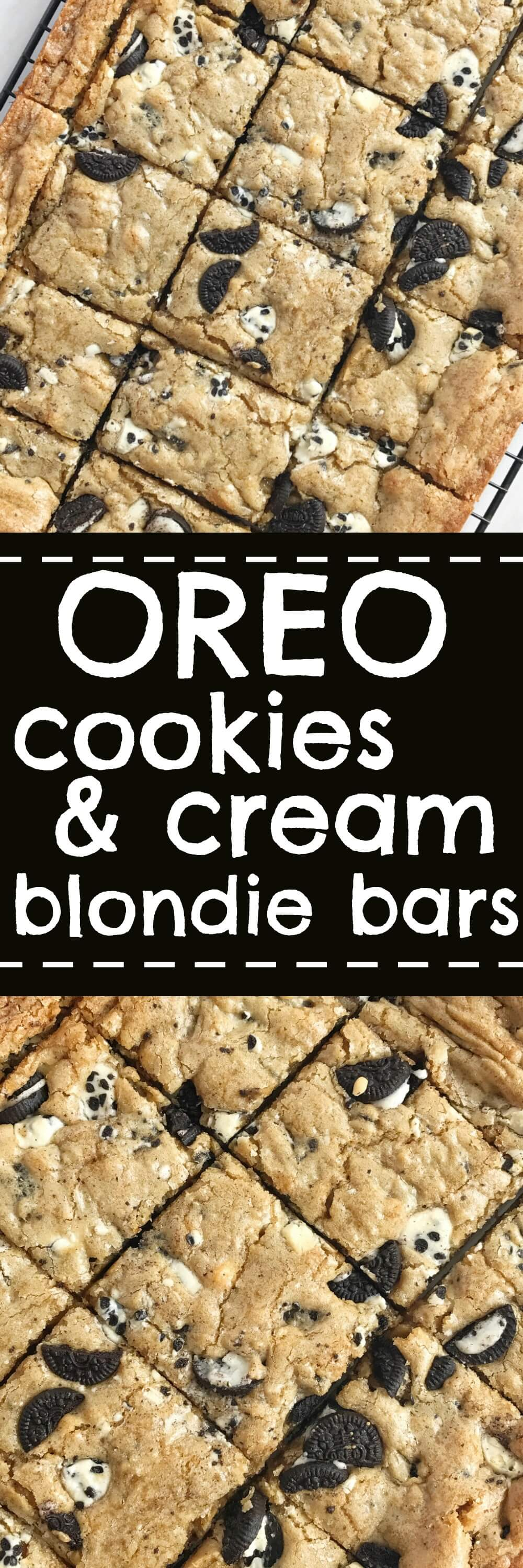 Oreo Cookies Amp Cream Blondie Bars Together As Family