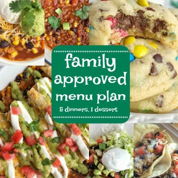 Family menu plan that everyone will love! These have all been kitchen tested over and over again, and will help you get dinner on the table. Easy, family approved, simple ingredients, and delicious food to enjoy together   www.togetherasfamily.com #recipes #mealplanning #dinnerrecipes