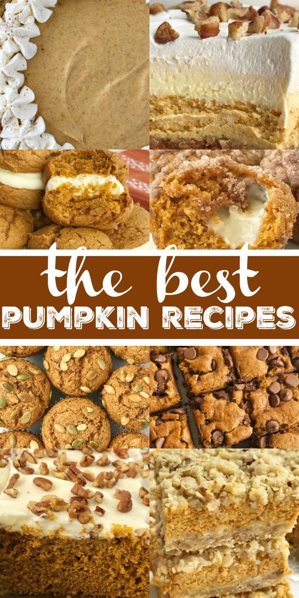 The Best Pumpkin Recipes | Pumpkin Desserts | Pumpkin Bread | Pumpkin Cheesecake | Pumpkin Sugar Cookies | The best pumpkin recipes all in one place! #pumpkin #pumpkinrecipes #pumpkincake #recipeoftheday