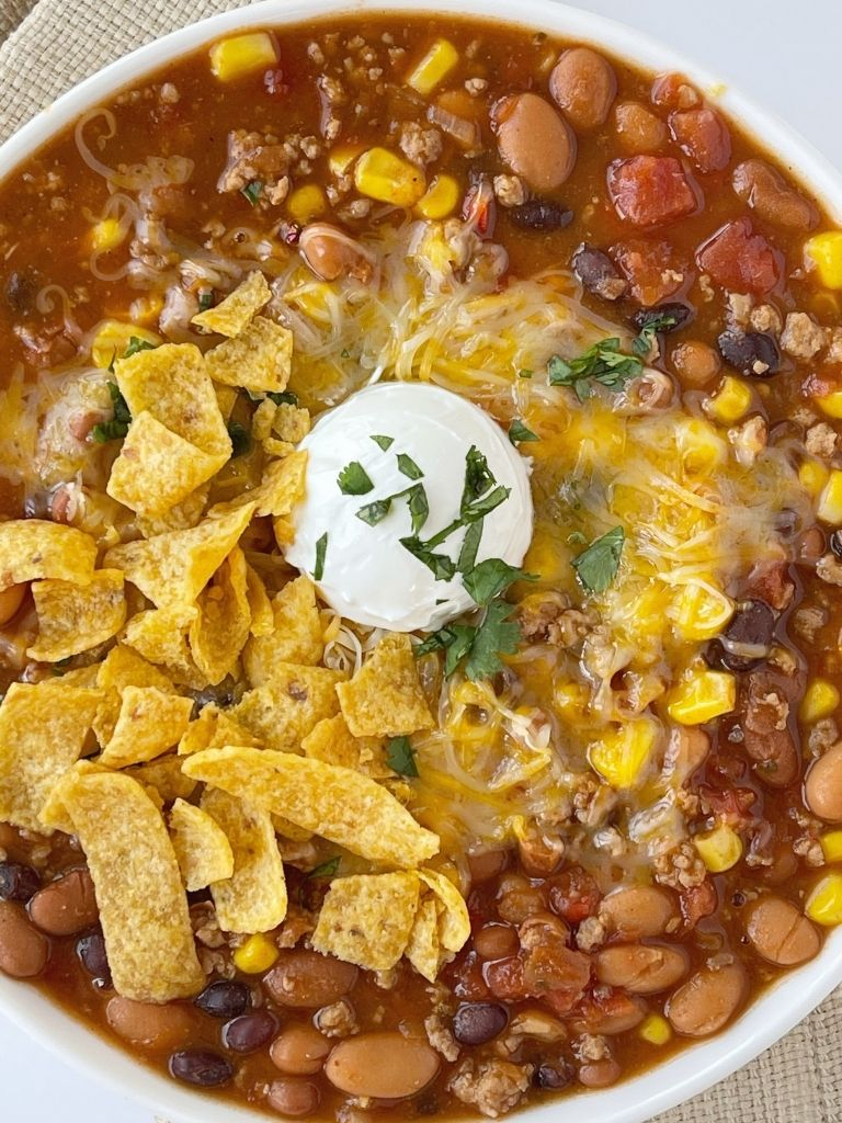 Turkey Chili Taco Soup Together As Family