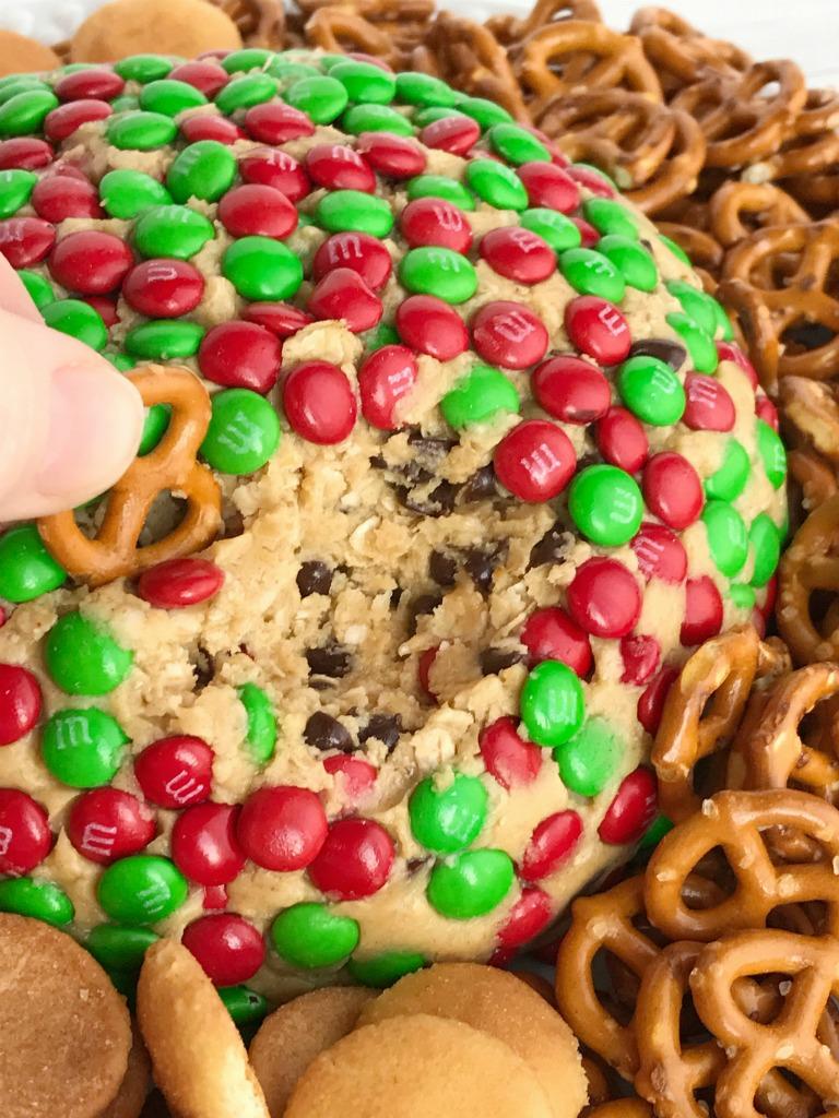 Christmas Cookie Dough Cheeseball Dip Together As Family