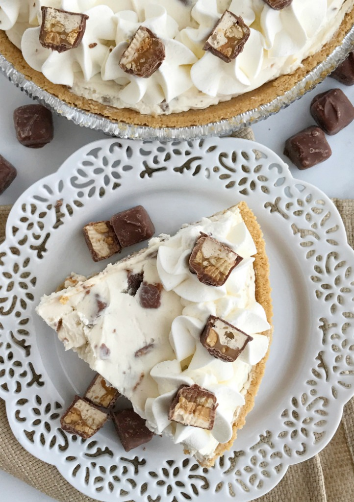 No Bake Snickers Cheesecake Cream Pie   No Bake Desserts   Cheesecake   Dessert   Cream Pie   No Bake Pie Recipe   Together as Family #nobakedesserts #nobakerecipes #cheesecake #cheesecakerecipe