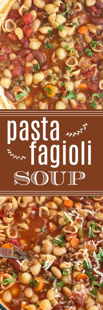 Hearty pasta fagioli soup together as family - Olive garden wedding soup recipe ...