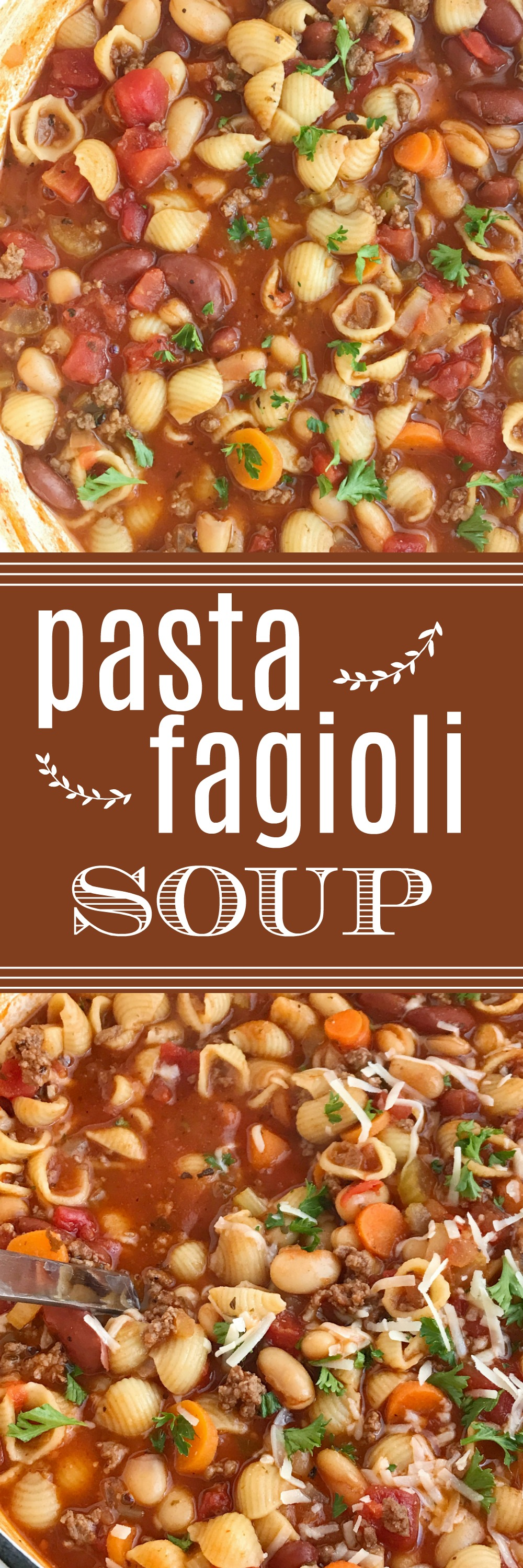 Hearty Pasta Fagioli Soup - Together as Family