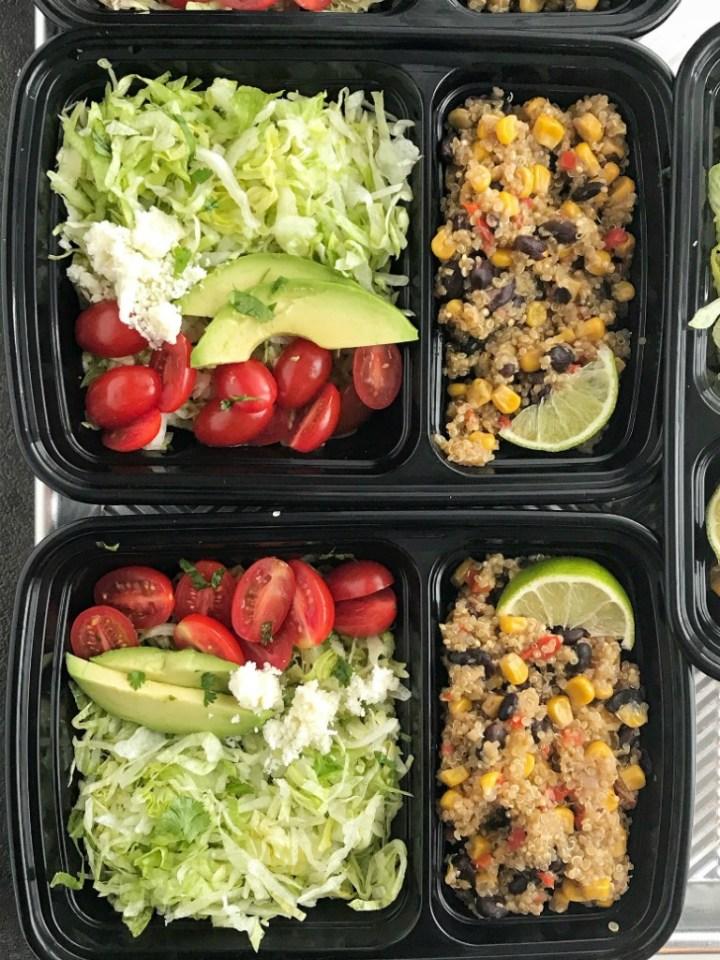 Instant Pot Quinoa Burrito Bowls   Burrito Bowls   Vegetarian   Instant Pot Recipes   Pressure Cooker Recipes   Quinoa Recipes   Instant Pot Quinoa Burrito Bowls are a quick and healthy dinner. Pile the quinoa burrito filling into bowls and top wtih your favorite taco toppings. #burritobowls #quinoarecipes #quinoa