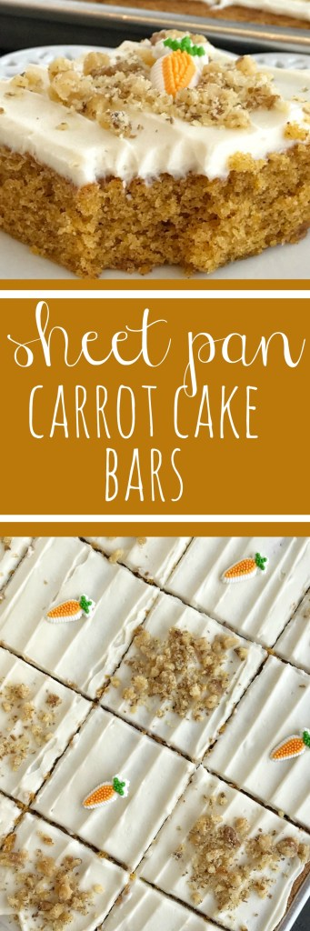 Carrot Sheet Cake With Sour Cream