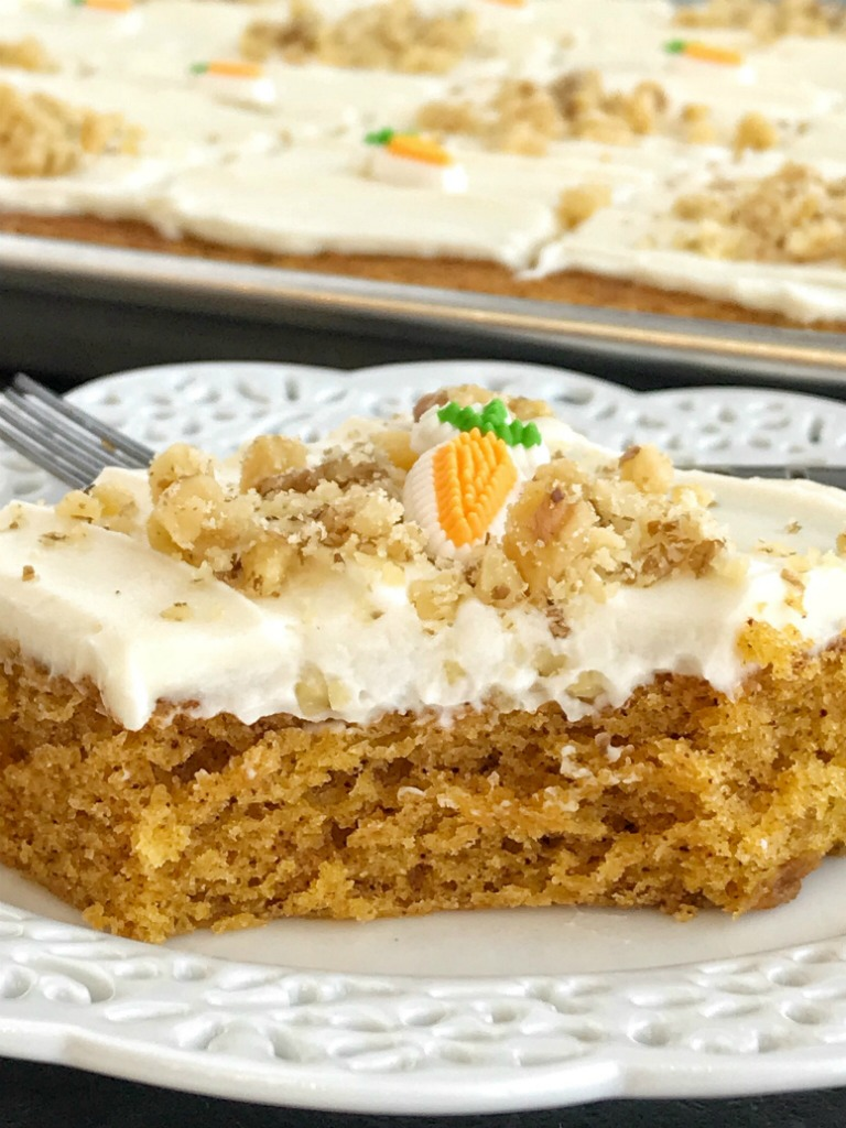 Easy Carrot Cake Made With Baby Food