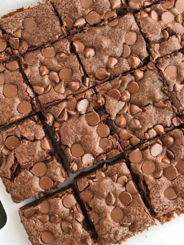 """Quick & Easy Chocolate Chip Brownies 