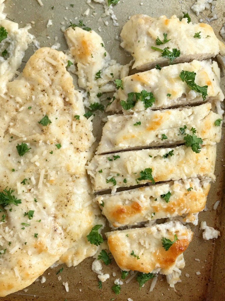 Baked Creamy Garlic Parmesan Chicken Together As Family