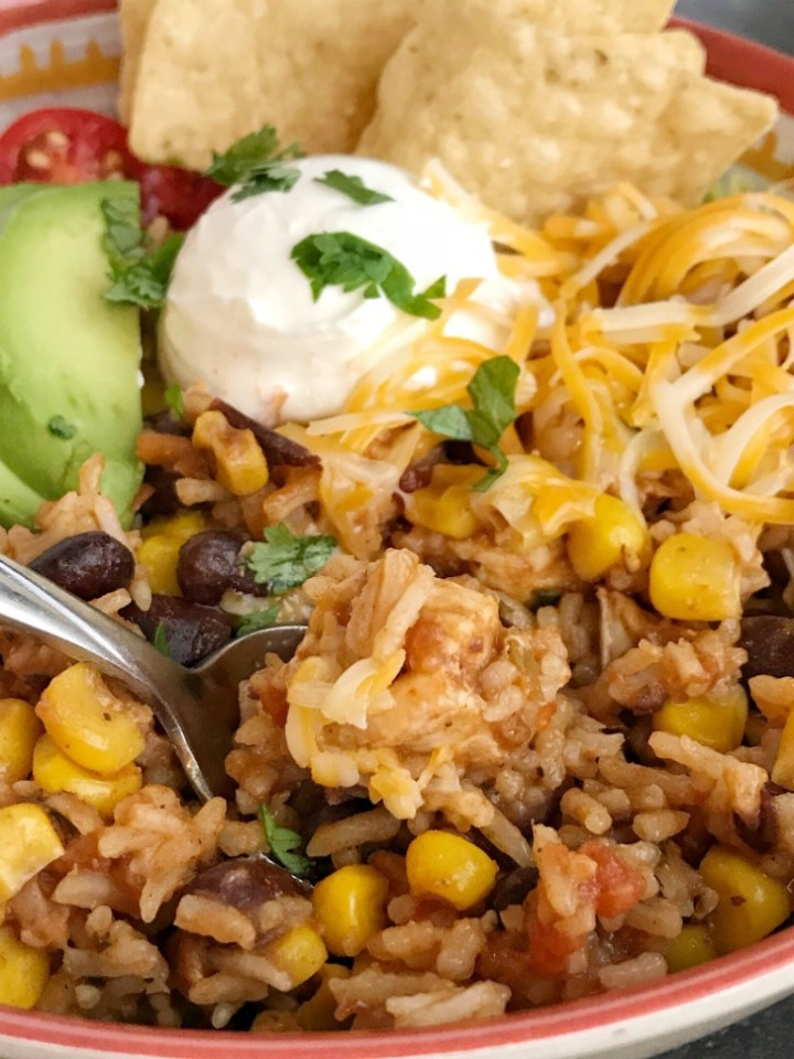 Instant Pot Chicken Burrito Bowls